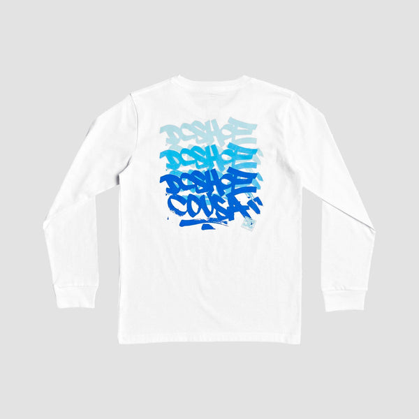 DC Triple Threat Longsleeve Tee White - Kids