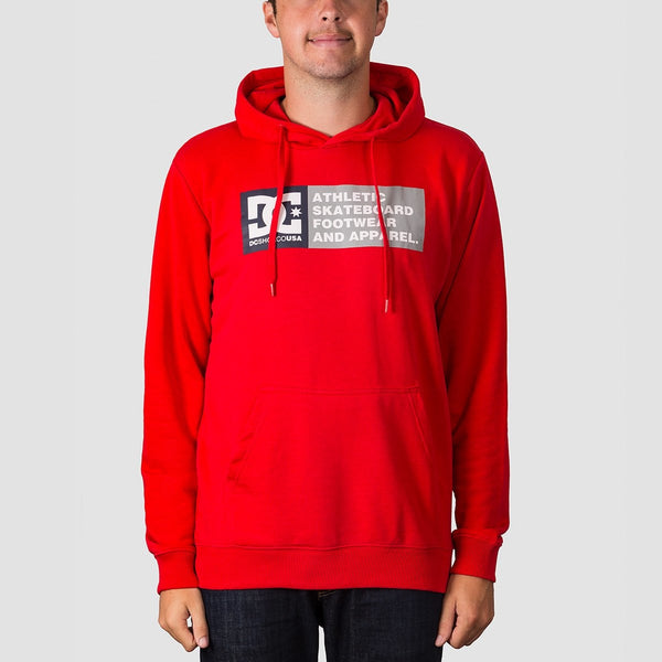 DC Vertical Zone Pullover Hood Racing Red - Clothing