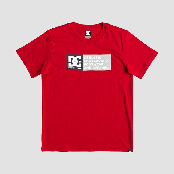 DC Vertical Zone Tee Racing Red - Kids - Clothing