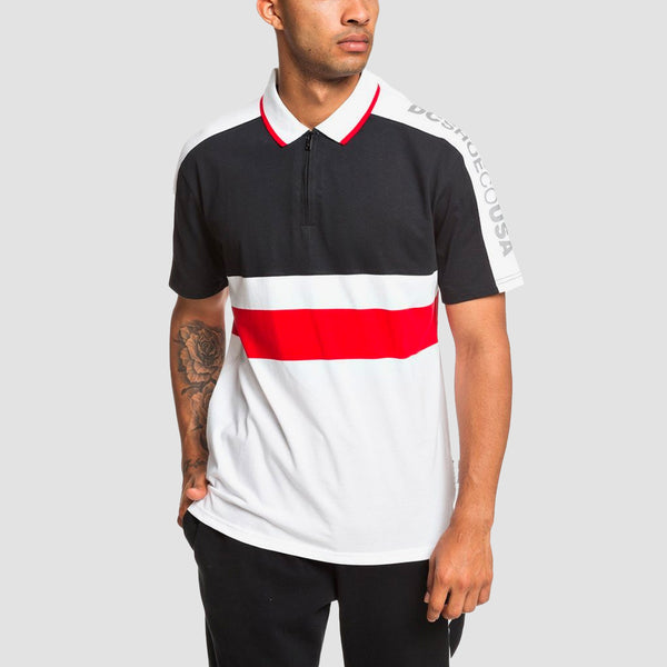 DC Walkley Polo Shirt Racing Red