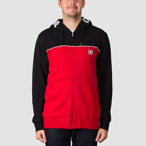 DC Wepma Zip Hood Black/Racing Red - Clothing