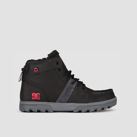 DC Woodland Boots Black/Battleship/Athletic Red