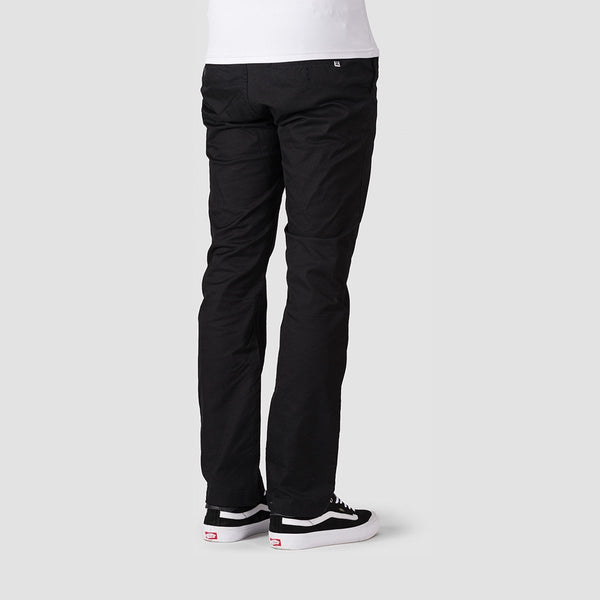 DC Worker Straight Chino Pants Black - Clothing