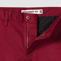 DC Worker Straight Fit Jeans Cabernet - Clothing