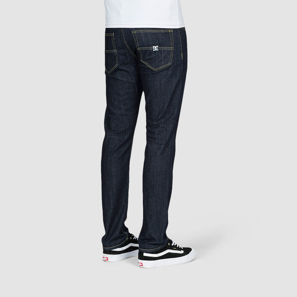DC Worker Straight Fit Jeans Indigo Rinse