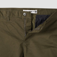 DC Worker Straight Fit Pants Dark Olive - Clothing