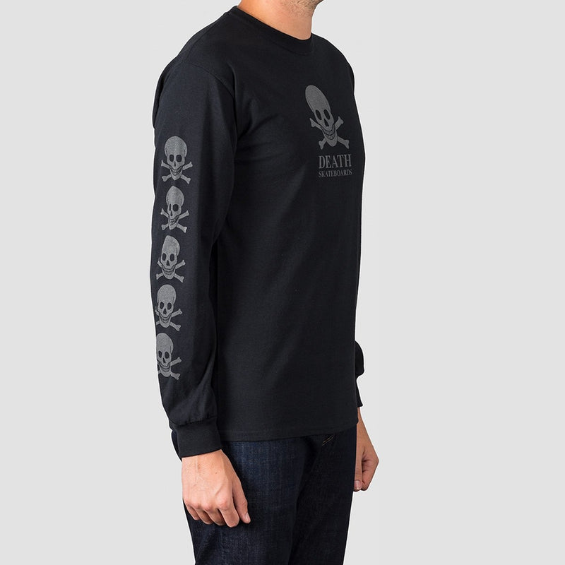 Death OG Skull 3M Reflective Longsleeve Tee Black - Clothing