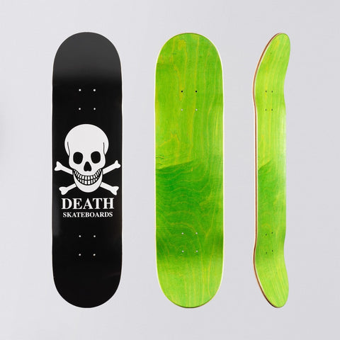 Death OG Skull Deck Black - 8 - Skateboard