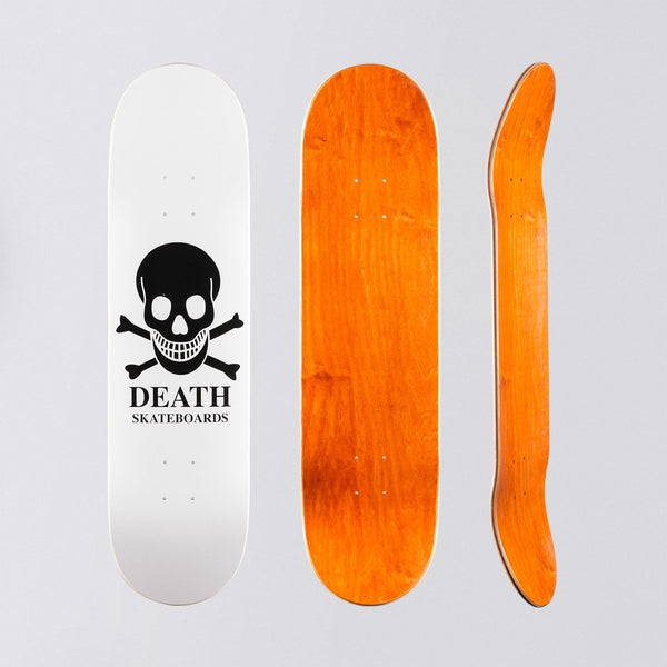 Death OG Skull Deck White - 8.25 - Skateboard