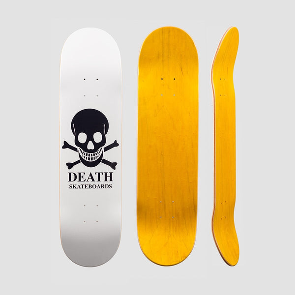 Death OG Skull Deck White - 8 - Skateboard