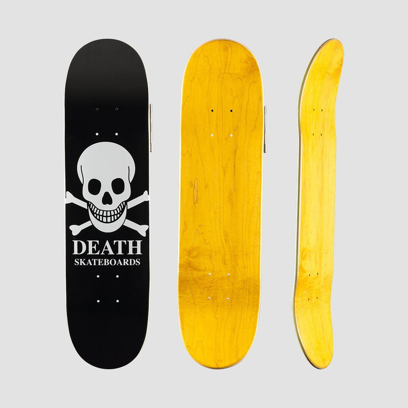 Death OG Skull Mini Deck Black - 7.25 - Skateboard