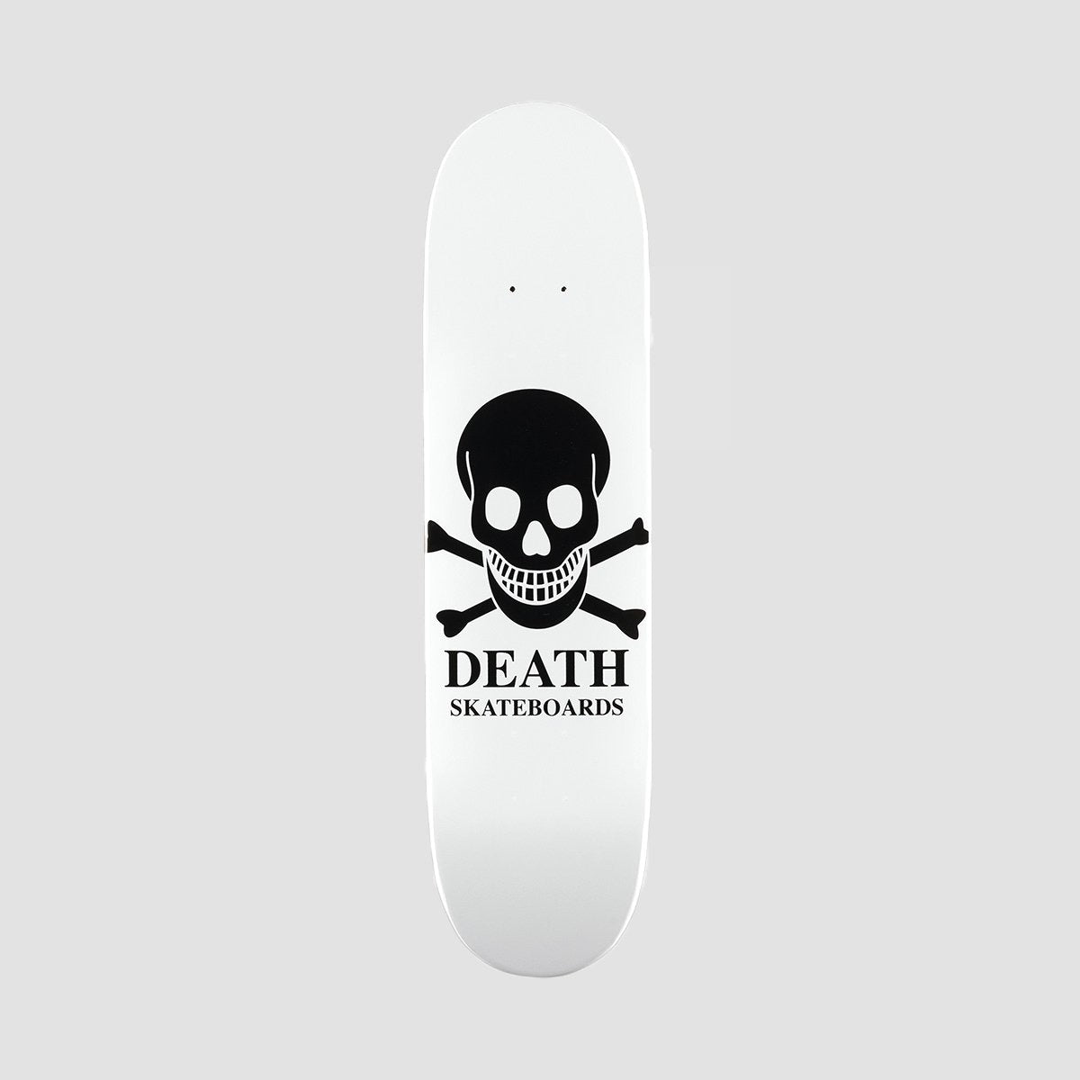 Death OG Skull Mini Deck White - 7.25 - Skateboard