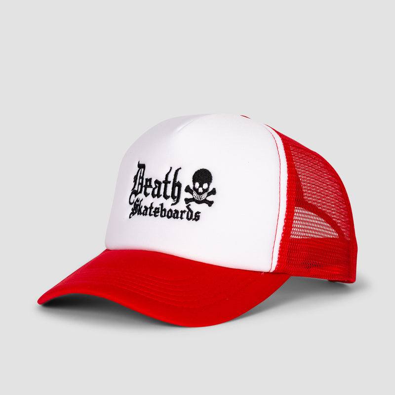 Death Old English Trucker Cap Red/White