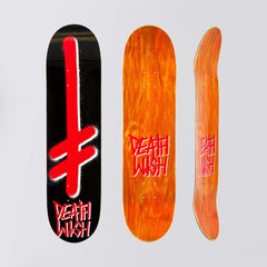 Deathwish Gang Logo Deck Black/Red - 8 - Skateboard