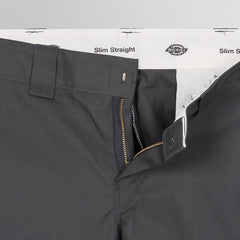 Dickies 873 Slim Straight Work Pants Charcoal Grey - Clothing
