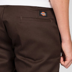 Dickies 873 Slim Straight Work Pants Chocolate Brown - Clothing