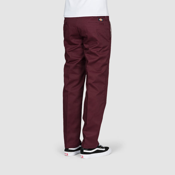 Dickies 873 Slim Straight Work Pants Maroon