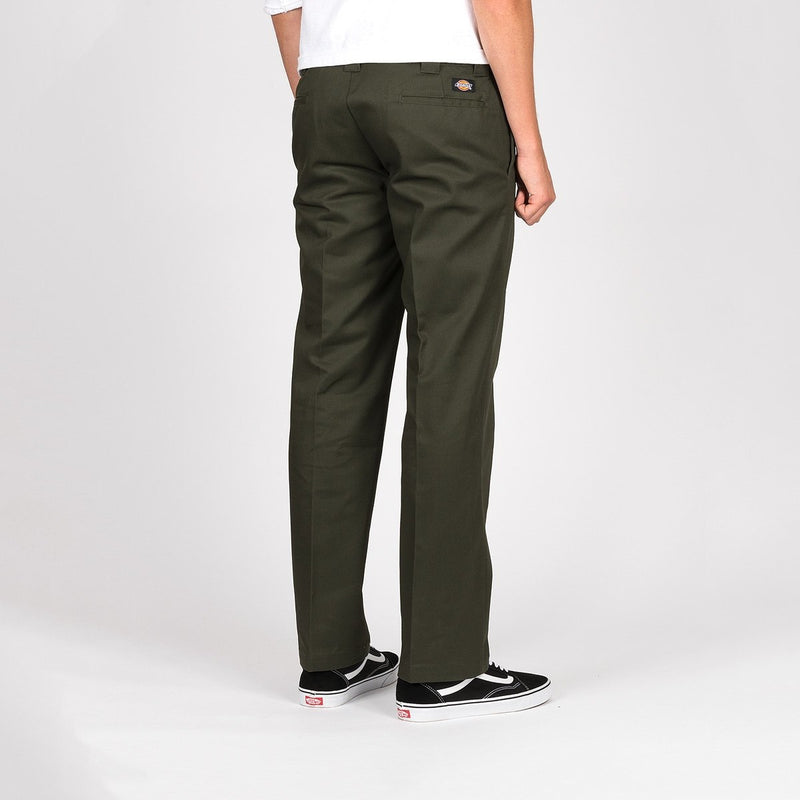 Dickies 873 Slim Straight Work Pants Olive Green - Clothing