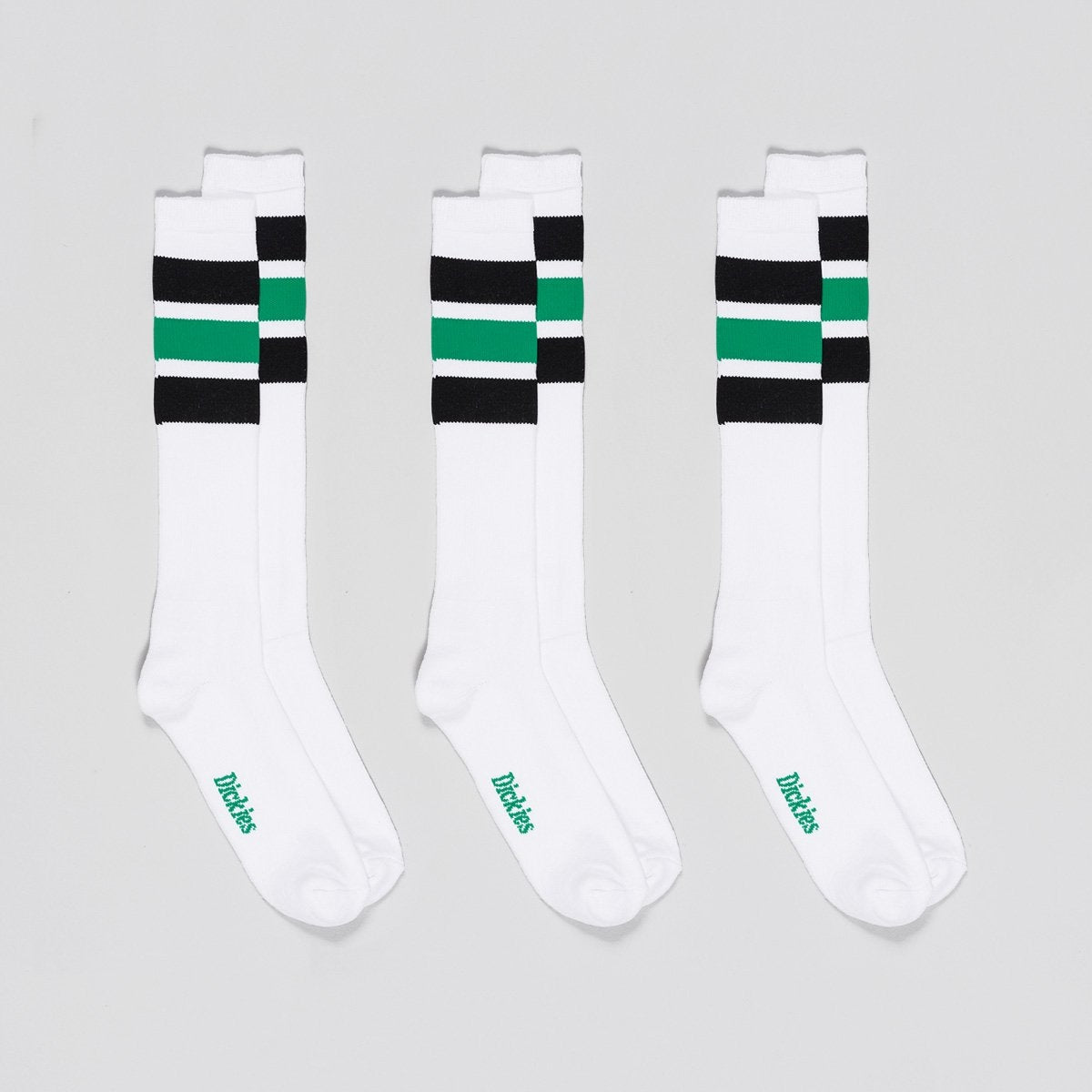 Dickies Atlantic City Socks 3 Pack Black/Green/White - Accessories