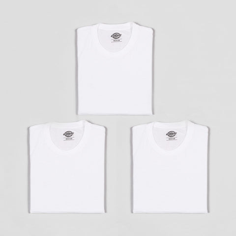 Dickies Crew Neck Tee 3 Pack White
