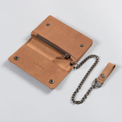 Dickies Deedsville Leather Chain Wallet Brown - Accessories