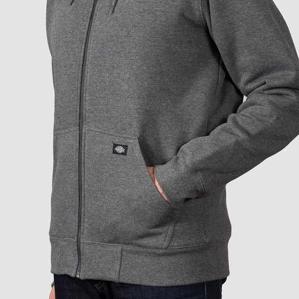 Dickies Frenchburg Zip Hood Dark Heather - Clothing