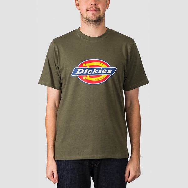 Dickies Horseshoe Tee Dark Olive - Clothing