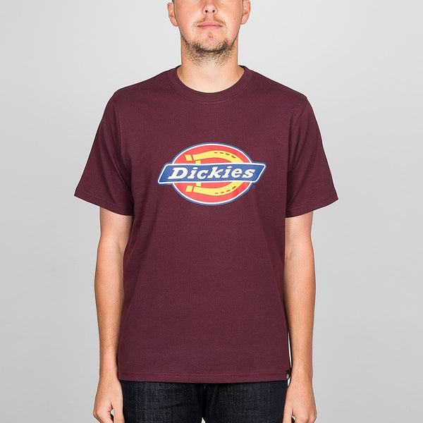 Dickies Horseshoe Tee Maroon - Clothing