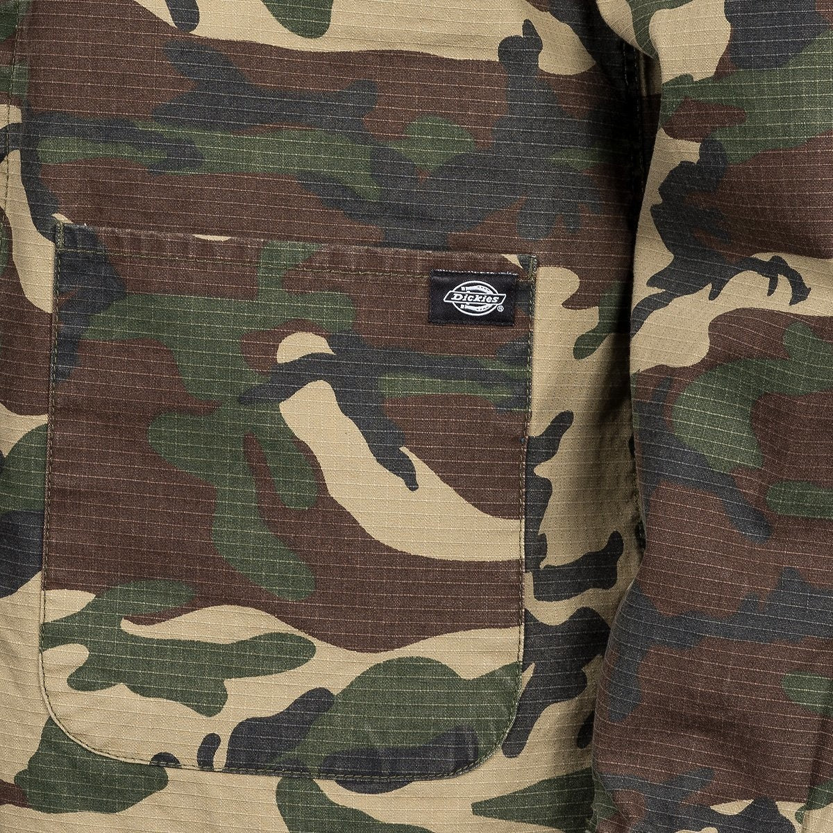 Dickies Kempton Long Sleeve Shirt Camouflage - Clothing