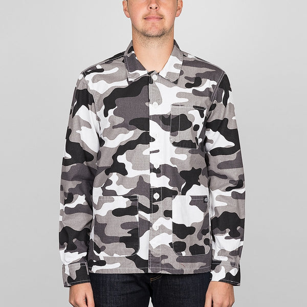 Dickies Kempton Long Sleeve Shirt White Camo - Clothing