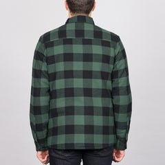 Dickies Lansdale Long Sleeve Shirt Pine Green - Clothing