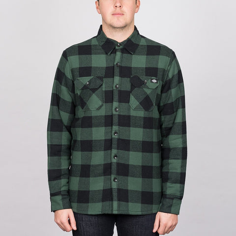 Dickies Lansdale Long Sleeve Shirt Pine Green