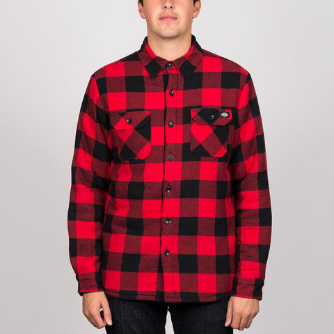 Dickies Lansdale Long Sleeve Shirt Red