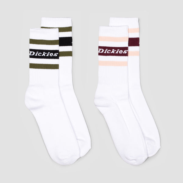Dickies Madison Heights Socks 2 Pack White