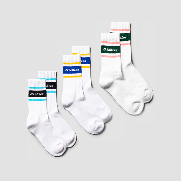 Dickies Madison Heights Socks 3 Pack Assorted Colour