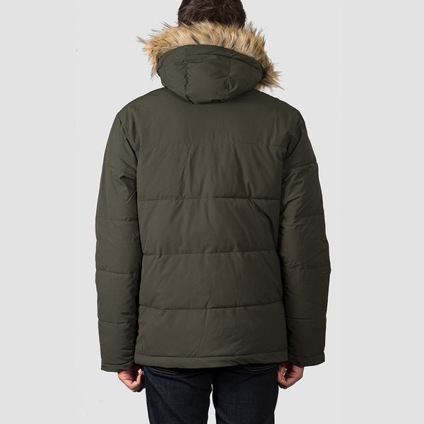 Dickies Manitou Quilted Parker Jacket Olive Green - Clothing