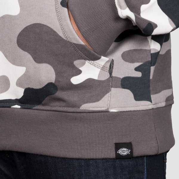 Dickies Philadelphia Pullover Hood White Camo - Clothing