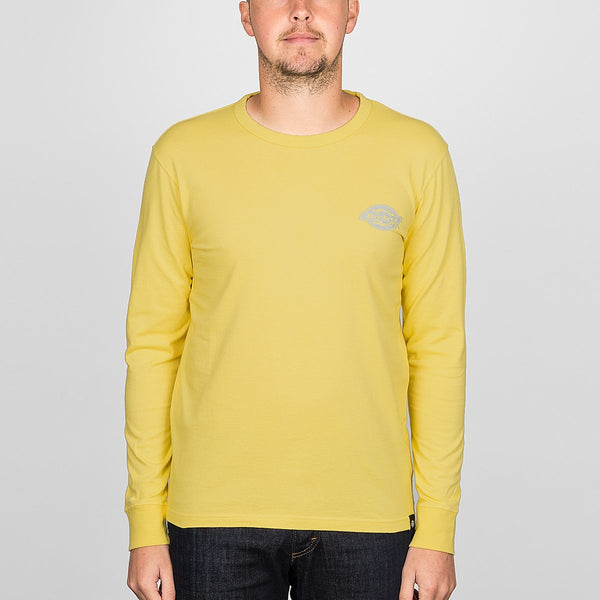 Dickies Pipersville Long Sleeve Tee Dusk Yellow - Clothing