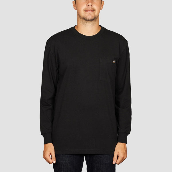 Dickies Pocket Longsleeve Tee Black - Clothing