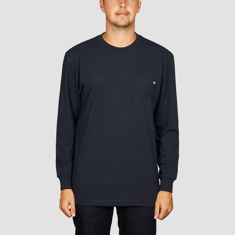Dickies Pocket Longsleeve Tee Dark Navy - Clothing
