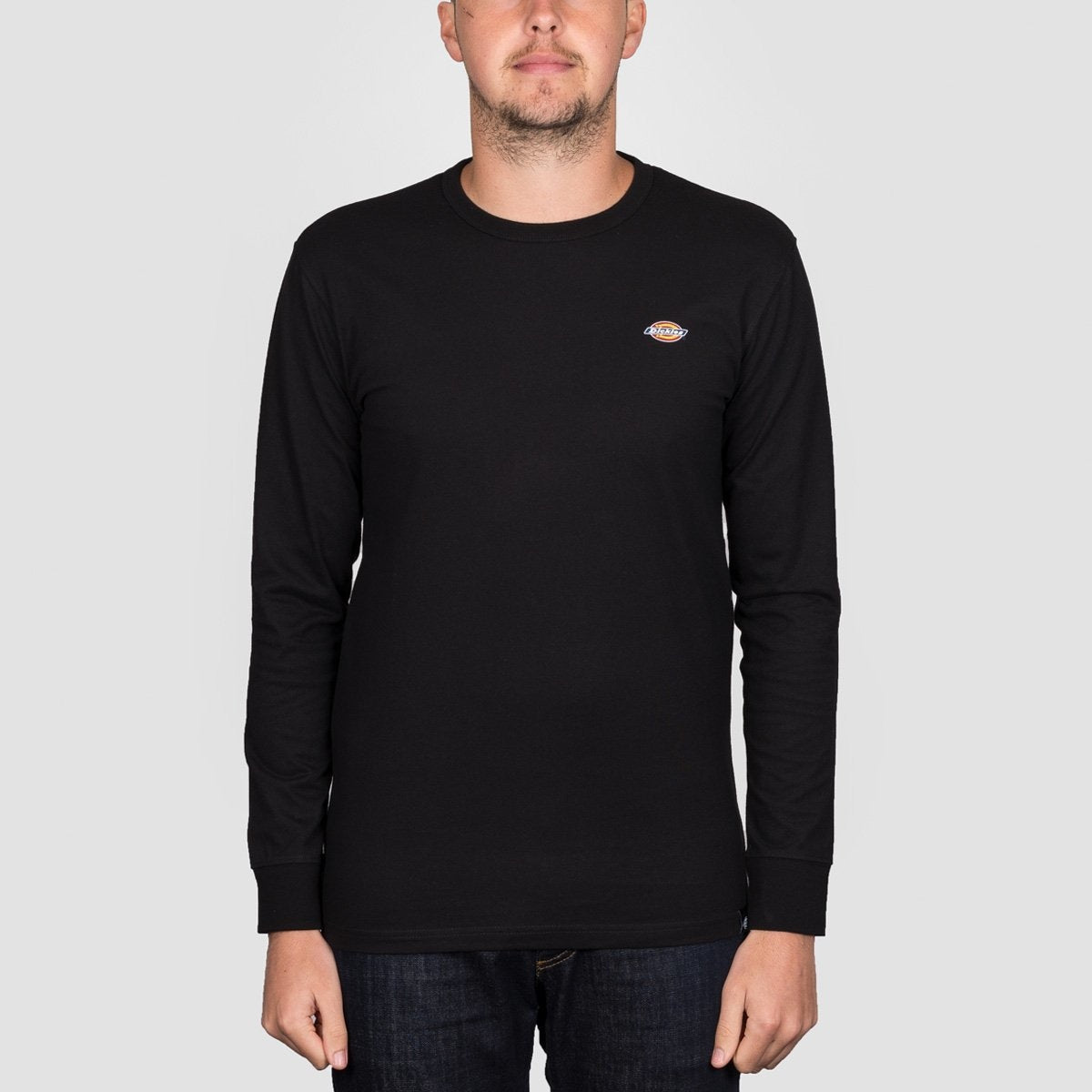 Dickies Round Rock Long Sleeve Tee Black - Clothing