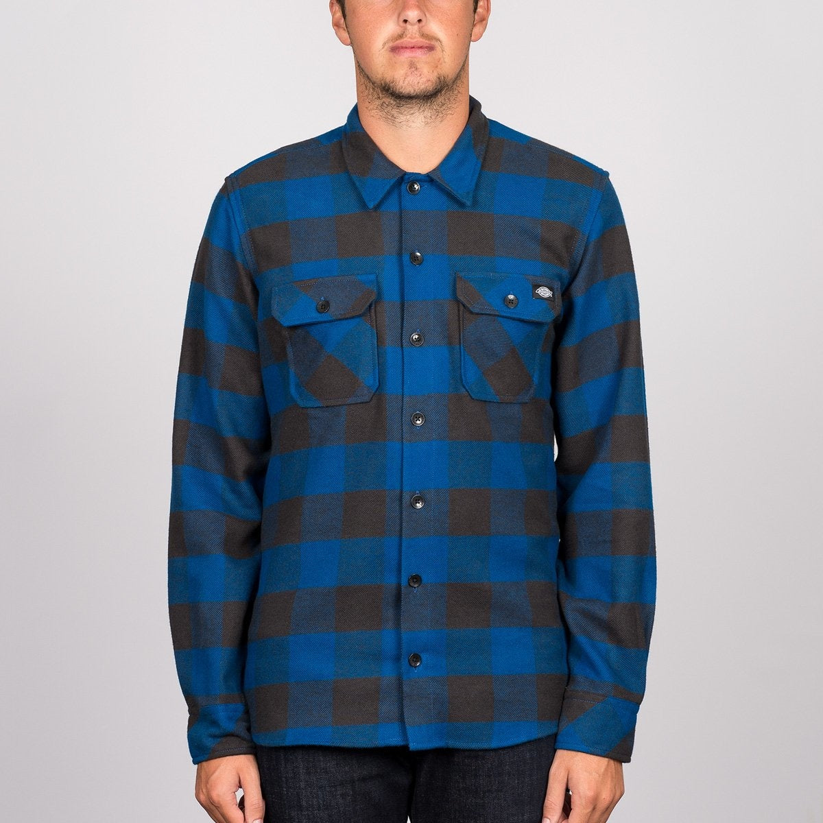 Dickies Sacramento Long Sleeve Shirt Blue - Clothing