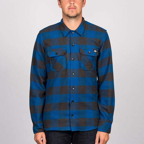 Dickies Sacramento Long Sleeve Shirt Blue