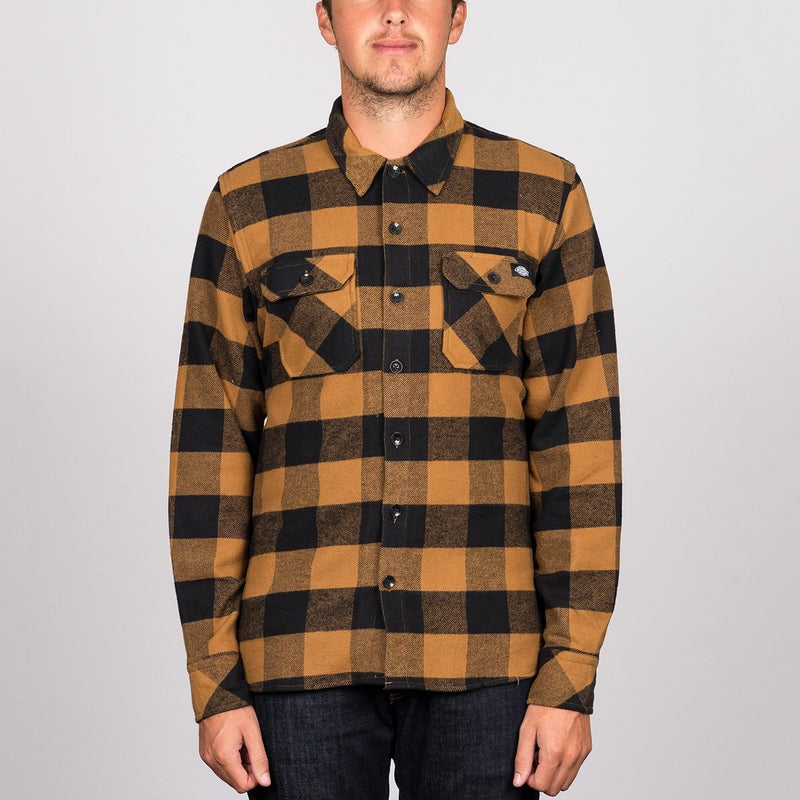 Dickies Sacramento Long Sleeve Shirt Brown Duck - Clothing