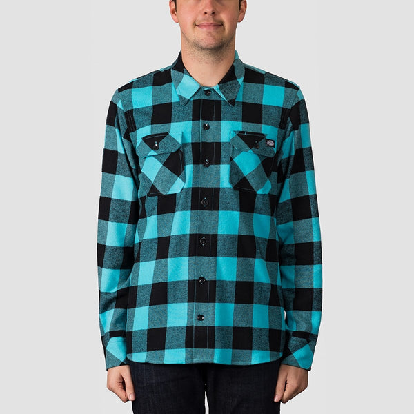 Dickies Sacramento Long Sleeve Shirt Ocean - Clothing