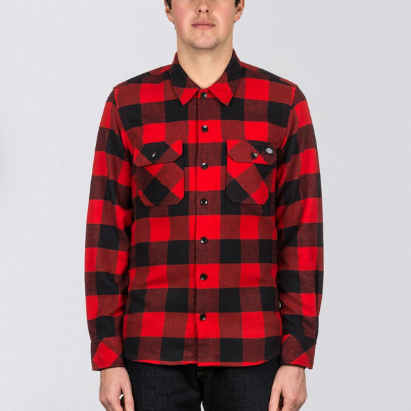 Dickies Sacramento Long Sleeve Shirt Red - Clothing