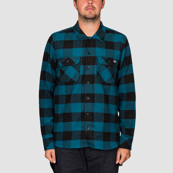 Dickies Sacramento Relaxed Long Sleeve Shirt Coral Blue - Unisex