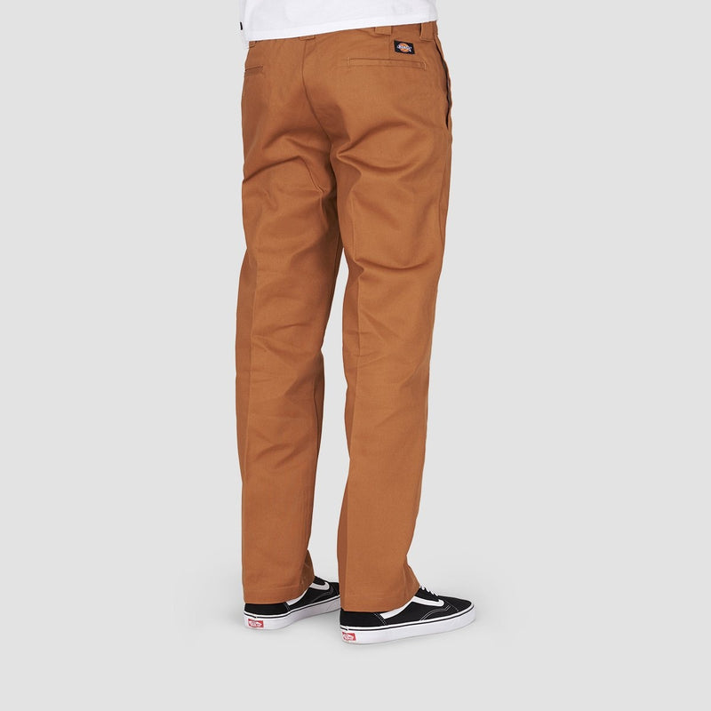 Dickies Slim Straight Work Pants Brown Duck - Clothing