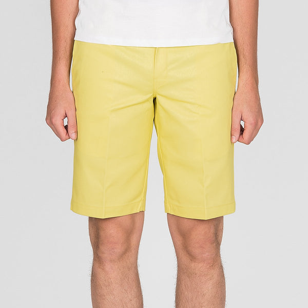 Dickies Slim Straight Work Shorts Dusk Yellow - Clothing