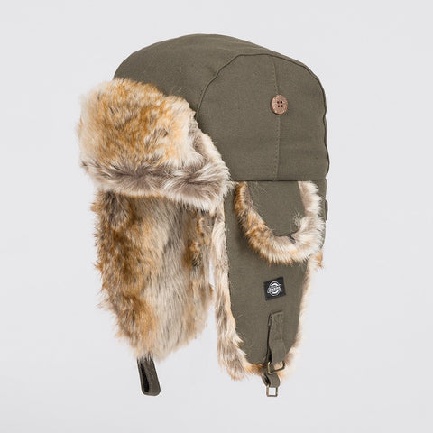 Dickies Trout Creek Trapper Hat Olive Green